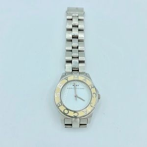 marc by marc jacobs metal watch creme bezel